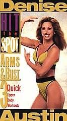 Denise Austin   Hit the Spot Arms Bust VHS, 1995
