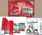 Wii Limited Red Console+Super Bros+Mario Kart&Wheel 2 Games+Control