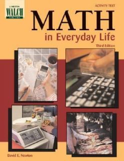 Math in Everyday Life by David E. Newton 2001, Hardcover, Activity