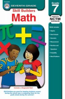 Skill Builders Math Grade 7 by Jerry Aten 2007, Paperback