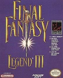 Final Fantasy Legend III Nintendo Game Boy, 1992