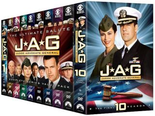 JAG The Complete Series DVD, 2010, 55 Disc Set