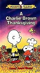 Charlie Brown Thanksgiving VHS, 1999, Clamshell