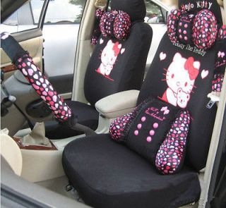 Car Accessory Front Rear Seat Covers Cushion Neckrest 10pc Kit Gift