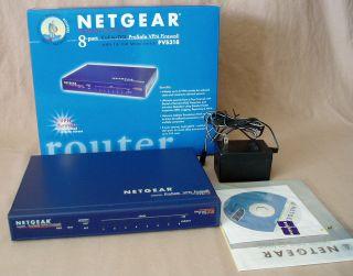 ProSafe VPN Firewall 8 Port 10/100 Mbps Switch Cable/DSL Router FVS318
