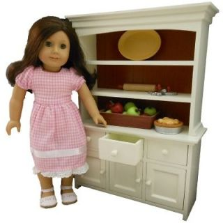 CUPBOARD 18 DOLL HUTCH DISH TRUNK FOR AMERICAN GIRL DOLL FURNITURE
