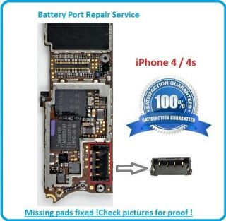 iPhone 4 Motherboard Battery Connector Repair Service Logic Board