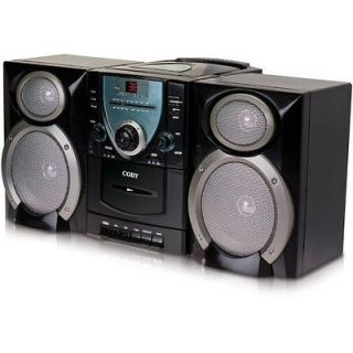 Coby Micro Shelf System Boombox CD Player Cassette Deck and AM/FM