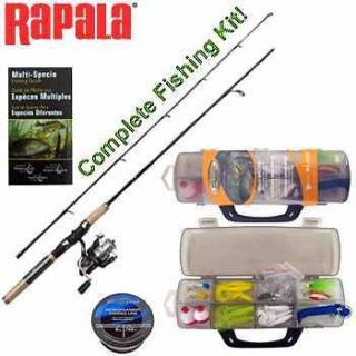® SPINNING ROD & REEL COMBO KIT~FISHING POLE~REELS~HUNTING~CAMPING