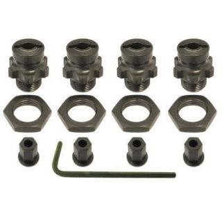 AKA 33010 Alum/Aluminum 17mm/17 mm 1/8 Wheel Adapters Set 1/10 Slash