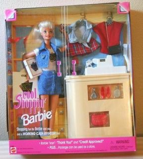 COOL SHOPPIN BARBIE WITH WORKING CASH REGISTER MATTEL 1997
