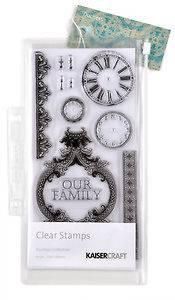 Kaiser Craft Clear Stamps DS209 DUCHESS Clocks