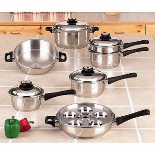 ELEMENT STEAM CONTROL WATERLESS T304 STAINLESS STEEL COOKWARE SET