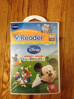 VTech V.Reader MICKEY MOUSE CLUBHOUSE Learning System. Retail Box