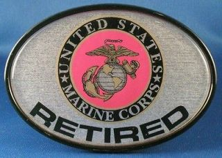 UNITED STATES MARINE CORPS RETIRED TRAILER HITCH COVER Truck RTV RV