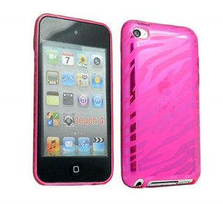 Zebra TPU hard silicone gel cover case for iPod Touch 4th Generation