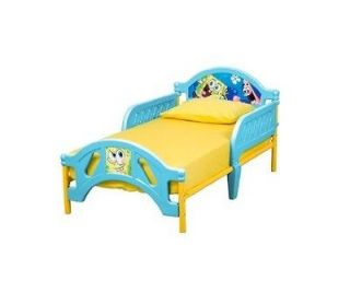 Sponge Bob Toddler Bed With Safety Removable Rails Steel Frame