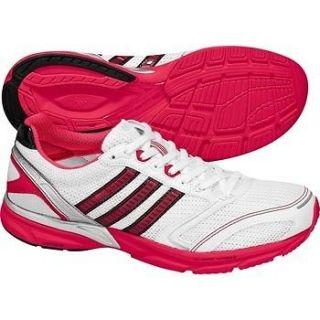 New Adidas adizero Mana 5 Running Training Shoes White Red Pink G43517