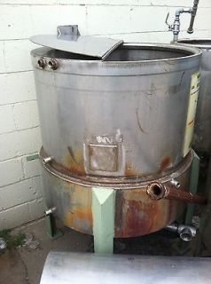 Used   150 Gallon Stainless Steel Tank w/ Water Jacket
