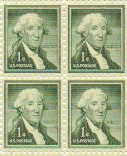 George Washington Set of 4 x 1 Cent US Postage Stamps NEW