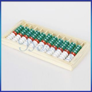 Wooden Framed 9 bead Abacus Counting Frame Children Student Math Class