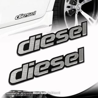 Diesel Engine Badge Emblem Sticker Decal + 3M Adhesive Backing