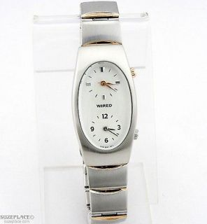ALBA WIRED LADIES WATCH DUEL DIAL TWO DIALS BRACELET STYLE BAND VERY
