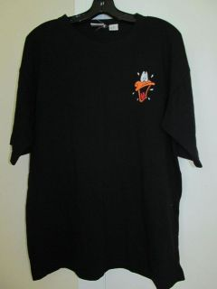 Acme Casual Black Shirt Short Sleeve Daffy Duck Emblem L Looney Tunes