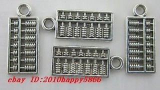 60pcs auspicious Tibet silver Old calculator abacus charms pendant