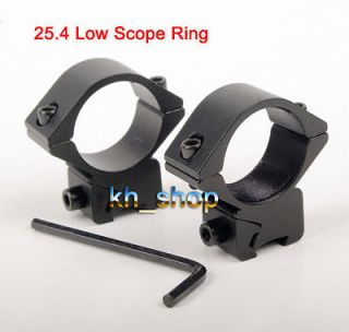 New Pair of 25.4 Low Scope Ring Mount Dovetail 11mm Fit Scopes/Lasers