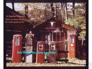 OLD GAS PUMPS Mobil Atlantic Gulf Sixty Six