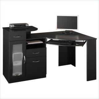 Bush Vantage Corner Wood Black Computer Desk