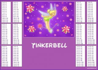 NEW Tinkerbell Magic Fairy Learning Maths Times Tables Multiplication