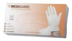 100 LARGE LIGHTLY POWDERED LATEX MEDICAL EXAM GLOVES