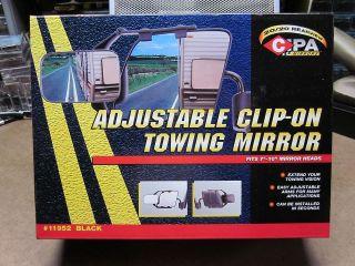CLIP ON TOWING MIRROR rearview CIPA adjustable black NEW