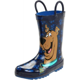 Western Chief Kids Blue Scooby Doo Paws Rain Boots Boys size 9 NEW