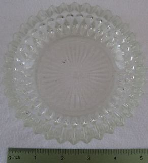 Vintage Small Clear Glass Ash Tray Ashtray 5