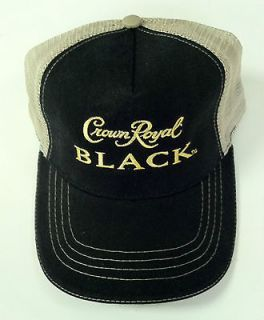 Black Crown Royal Baseball Cap Hat~Brand new without tag