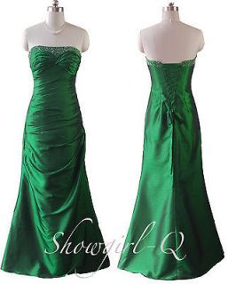 5269 Emerald Green Sequinned Bodice Evening Dress Prom Bridesmaid