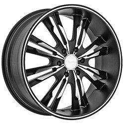 Panther 908 Black Wheels Rims 5x4.5 5x114.3 +15 / Acura MDX Ford Edge