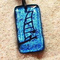 Windsurfing jewelry Pendant Leather Necklace Boom #1