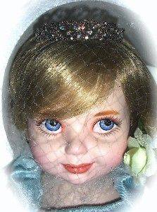 Franklin Mint PRINCESS DIANA PORCELAIN BABY DOLL COA