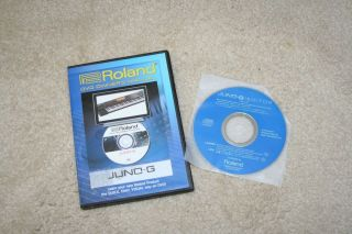Roland Juno G DVD Owners Manual and Editor Software