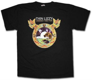 LIZZY T SHIRT   JOHNNY THE FOX 100% OFFICIAL PHIL LYNOTT GARY MOORE