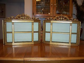 Set of Vintage Mid Century Syroco Hollywood Regency Gold Curio