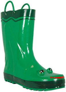NEW Western Chief Womens Green Frog Rubber Rain Boots Size 9