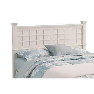 Home Styles Arts and Crafts White Queen/Full Headboard, 5182 501