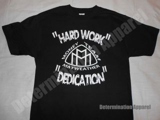 Shirt HARD WORK & DEDICATION Money Team Boxing HBO 24/7  B