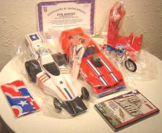 Evel Knievels Evil Knievel Motorcycle Jump Race Car FUNNY Car CLASSIC