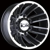 ION 166 Wheels Rims 17x6 8X6.5 FORD CHEVY DODGE DUALLY